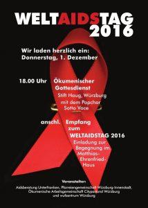 Flyer Welt-Aids-Tag 2016