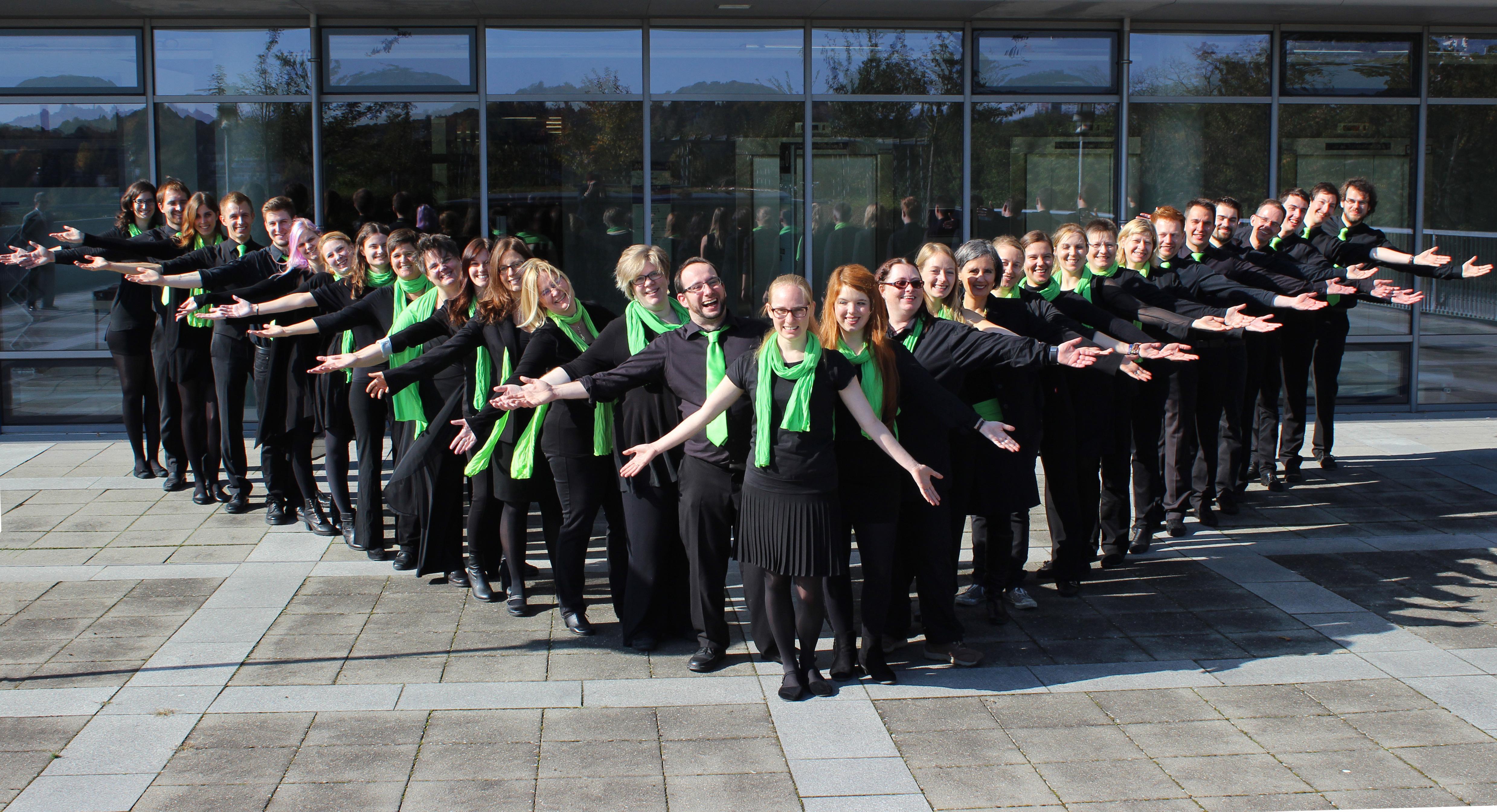 Gruppenbild Pop-Chor Sotto Voce Würzburg