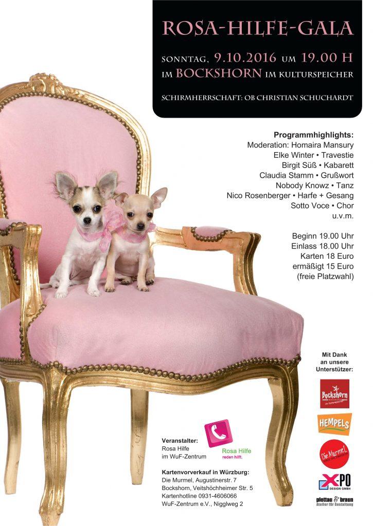 Plakat Rosa-Hilfe-Gala 2016