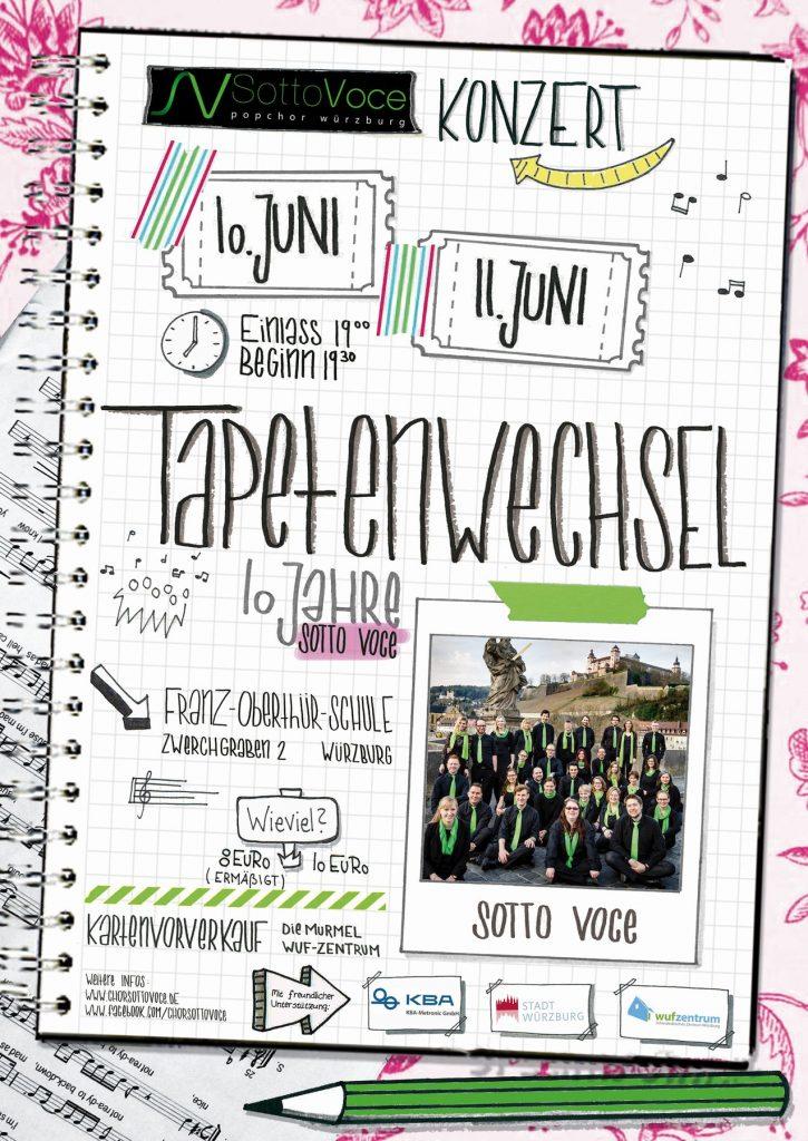 """Plakat Konzert """"Tapetenwechsel"""" 2017"""