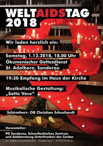 "Flyer ""Weltaidstag 2018"""
