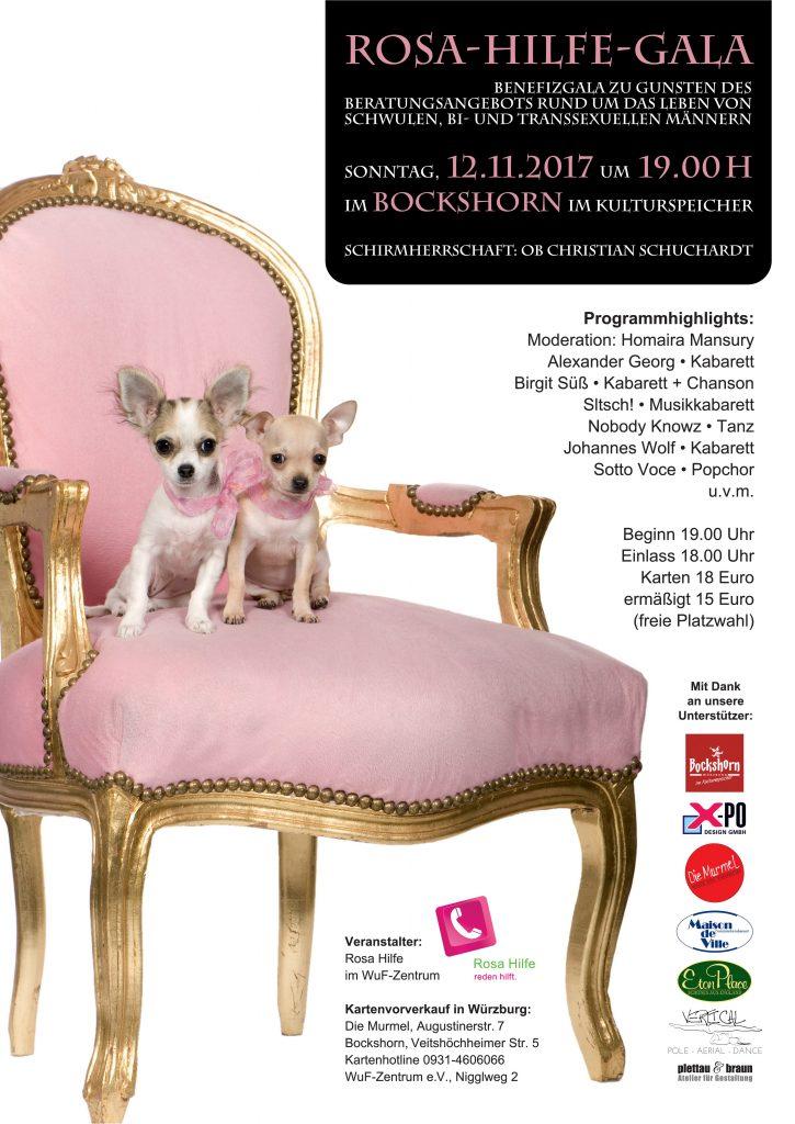 Plakat Rosa-Hilfe-Gala 2017