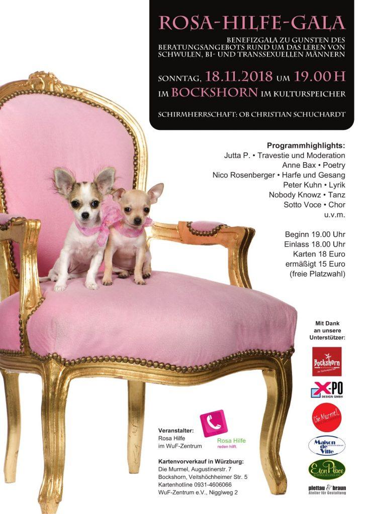 "Flyer ""Rosa-Hilfe-Gala 2018"""